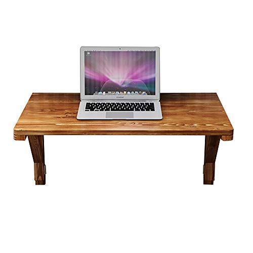 Virod-Home Office Desks Solid Wood Folding Drop-Leaf Table, Wall Mount Double Bracket Dining Table Against The Wall Computer Desk, 12 Sizes Modern Style (Size : 10050cm)