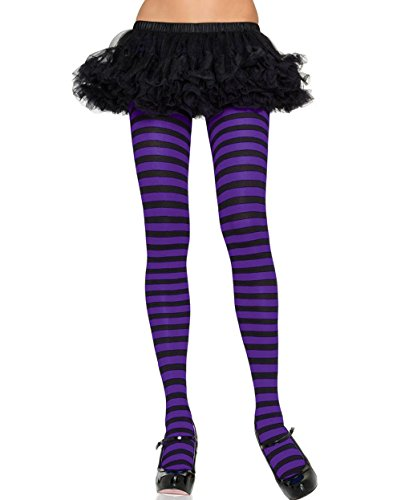 [Mememall Fashion Wide Stripes Assorted Colors Pantyhose Tights Gothic Punk Plus Regular Size] (Deluxe Plush Cow Mascot Costumes)