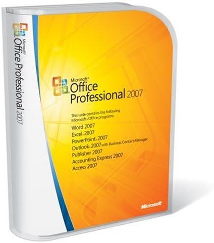 Amazon.com: Microsoft Office Professional 2007 FULL VERSION Old Version