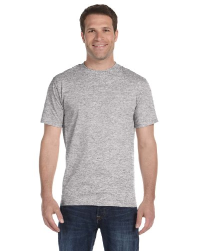 Hanes 5.2 OZ. ComfortSoft Cotton T-Shirt (5280) Pack of 6-Light Steel