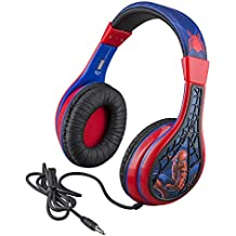 Kid Headphones for Kids Spiderman Far From Home Adjustable Stereo Tangle-Free 3.5mm Jack Wired Cord Over Ear Headset for Children Parental Volume Control Kid Friendly Safe Great for School Home Travel
