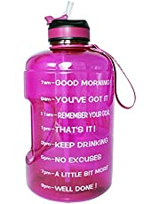 BuildLife Gallon Motivational Water Bottle Wide Mouth with Straw & Time Marked to Drink More Daily,BPA Free Reusable Gym Sports Outdoor Large(128OZ/73OZ/43OZ) Capacity