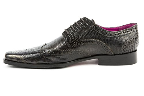 Melvin & Hamilton - Zapatos de cordones de Piel Lisa para hombre negro negro 42