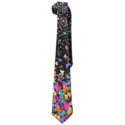 Colorful Butterfly Necktie Fashion Silk Tie Perfect Gift for -