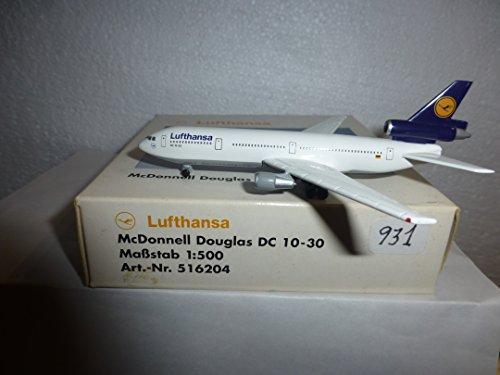Herpa AIRCRAFT MODEL 931 LUFTHANSA DOUGLAS DC-10-30