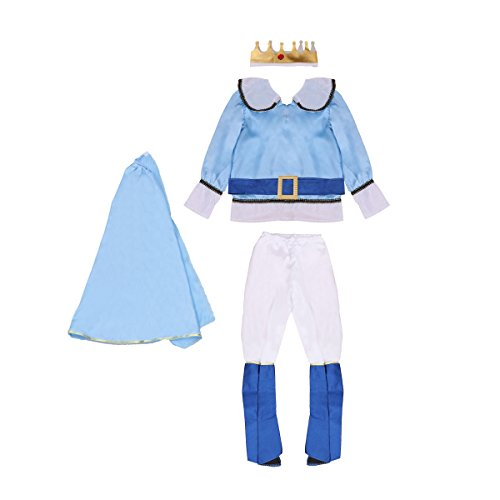 (AMOSFUN Halloween Cosplay Costume Boy Prince Clothing Kids Masquerade Clothing Party)