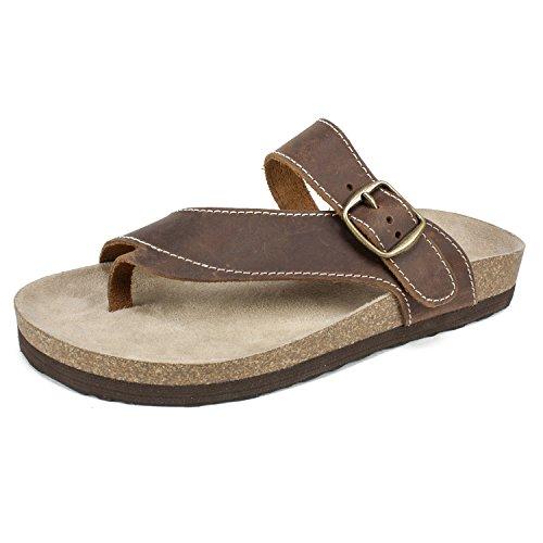 WHITE MOUNTAIN Women's Hasty Sandal, Brown, 9 M US