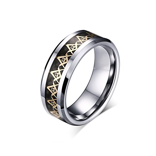 Zealmer Tungsten Carbide Beveled Masonic
