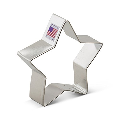 Ann Clark Star Cookie Cutter - 3.5 Inches - Tin Plated Steel (Stars And Moon Cutters Cookie)