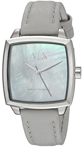 Armani Exchange Women's Dress Silver Leather Watch AX5450