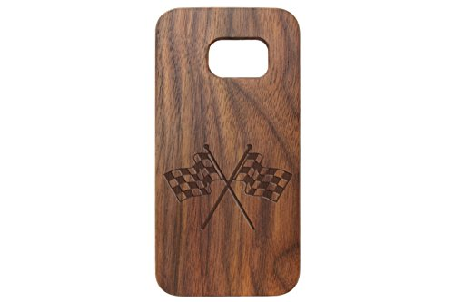 for Samsung Galaxy S7 Black Walnut Wood Phone Case NDZ Checkered Flags