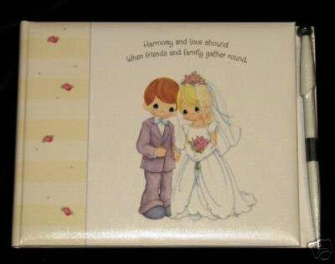 Hallmark Precious Moments Wedding Guestbook With Pen ()