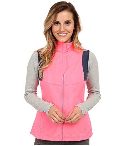 (Brooks Women's Nightlife Essential Vest III, Color: Brite Pink/Midnight, Size: XS)