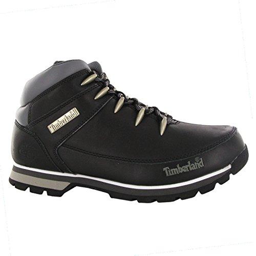 Timberland Men's Euro Spring Hiker,Black Inca Smooth Leather,US 9.5 M (Timberland Euro Hiker Black)