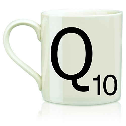 "SCRABBLE Vintage Ceramic Letter""Q"" Tile Coffee Mug"