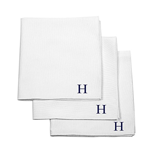 Cathy's Concepts Personalized Handkerchief Set, White, Le...