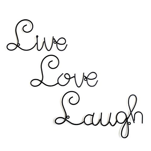Live Love Laugh Set 3 Wall Mount Metal Wall Word Sculpture, Wall Decor By Super Z Outlet® (Family Metal Plaque)