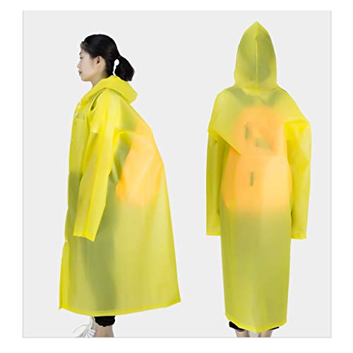 Transparente Unisex Y Manga Con raincoat Capucha Weifan Reutilizable Adulto Pink Impermeable A1 Poncho Impermeable pBXxgFq
