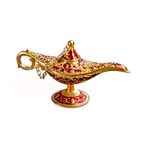 - Aladdin Magic Genie Lamps, Vintage Incense Burners Magic Genie Light Lamp, Collectable Rare Classic Arabian Costume Props Lamp Pot for Home Table Decoration/Party/Halloween/Birthday
