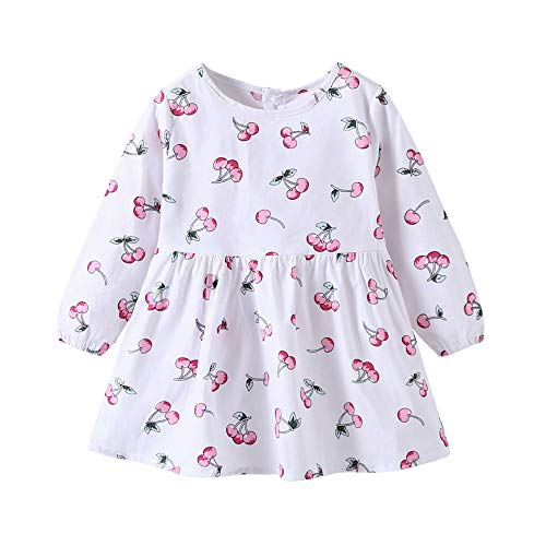 LISTHA Girls Dress Toddler Baby Long Sleeve Princess Dresses Party Pageant Kids Clothes