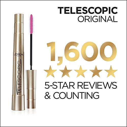 L'Oreal Paris Makeup Telescopic Original Lengthening Mascara, Black, 0.27 Fl Oz (1 Count)