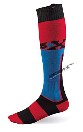 Fox Racing Fri Mx Socks (Fox Racing Fri Imperial Thick Men's MX Motorcycle Socks - Blue/Small)