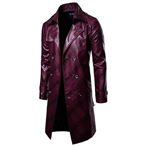 Blouse Veste Boutonnage Manches Outwear Manteaux Cardigan Double Du manteau Longues Hommes Vin Manteau Conqueror YPAZBB