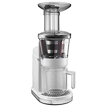 KitchenAid KVJ0111WH Maximum Extraction Juicer, White