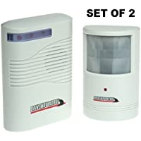 Driveway Patrol Sensor and Receiver Kit Set of 2