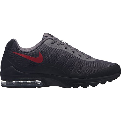 NIKE Men's Air Max Invigor Print Running Shoe, Gunsmoke/University Red-Black, 12