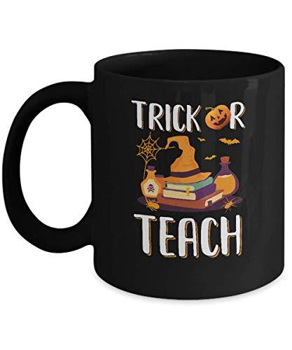 TeesPass Trick Or Teach Halloween Gift Costume For Teacher Mug 11oz ()