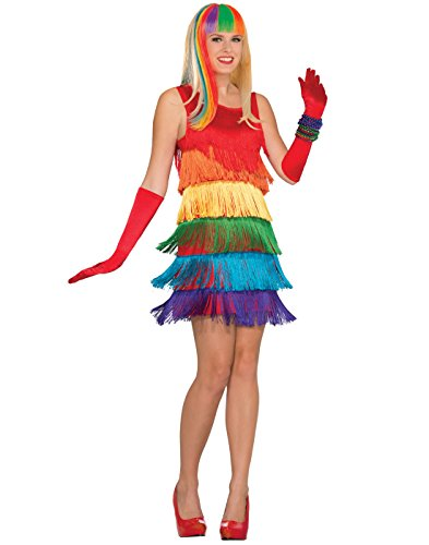 Drag Costumes (Forum Women's Rainbow Shimmy Costume, Multi, One)