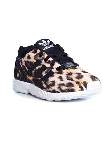ADIDAS - Schuh Turnschuhe ADIDAS Kinder ZX FLUX TECHFIT Netzgewebe Leopard B25642 - B25642 - 28, Leopardato