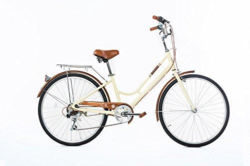 26' Womens Cruiser Bike (ZOYO Ladies Hybrid Bike Women's Bike Ladies Lightweight Aluminum Cruiser Shimano 7 Speed 26'' Yellow Ladies Commuter Bike)