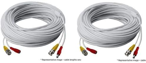 Lorex 2 Pack 250 RG59 High Performance BNC Video//Power Cable for Security Camera Systems