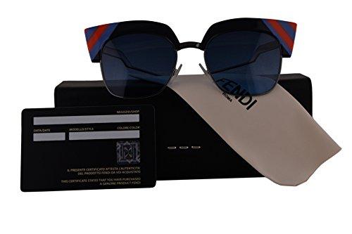 Fendi Authentic Sunglasses FF0241/S Blue w/Dark Blue Gradient Lens PJP08 FF 0241/S F0241/S FF0241S F0241S (50mm)