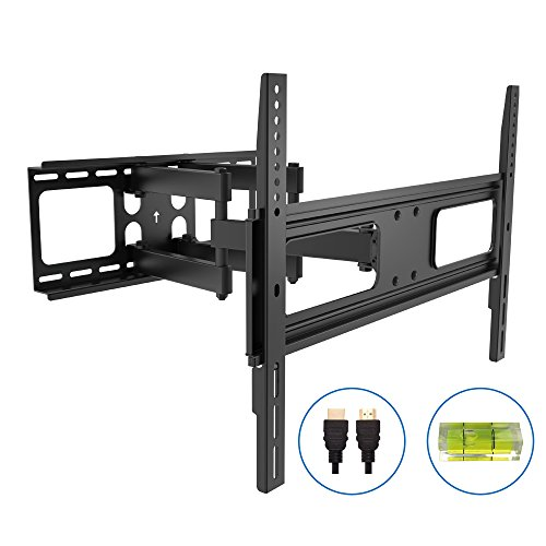 Articulating TV Wall Mount with 6ft HDMI Cable(05422A)Full-Motion TV Stand Bracket for 37'-80'LED LCD TV Flat Screen VESA up to 600x400,-20°~+10°Tilt,-60°~+60°Swivel,Max Load 110lbs.Power by ProH
