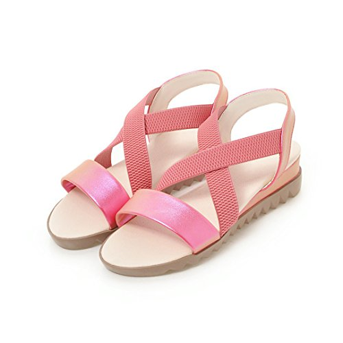 Exteriores Apliques Do Primavera Cuña Al Libre Redonda Verano bajo Talón Tacón Caminar Zapatos para Zapatos para PU Sandalias de Mujer Aire Zapatos Punta UwtafB4q