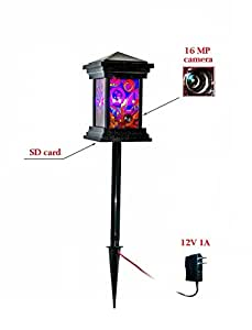 Spy Lantern Surveillance Camera - 16 MP standalone (Plug and play) outdoor hidden security camera with buit-in DVR