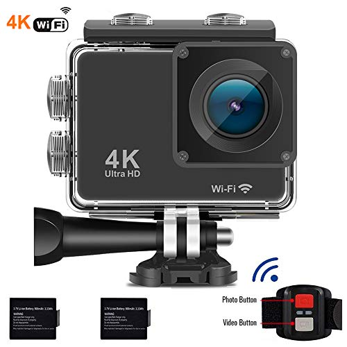 4k Action Camera WiFi Waterproof 30M Sport Camera 16Mp Ultra hd 1080p Underwater DV Camcorder Action Cam with Remote Bike Helmet Camera 2 Batteries ShenZhen Dveetech Technology Co., Ltd