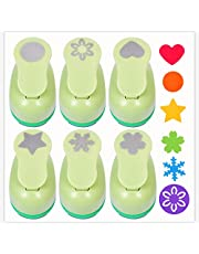 UCEC 6 Pcs Paper Punchers, 1-Inch Paper Craft Hole Punch Handmade Hole Scrapbooking Punches, with Different Shape Crafting Designs for Kids