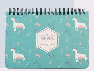 DHmart Lovely Kawai flamingo Calendar Mini Table Calendars Desk Calendar Office School Supplies 2018 Calendar Escolar Papelaria