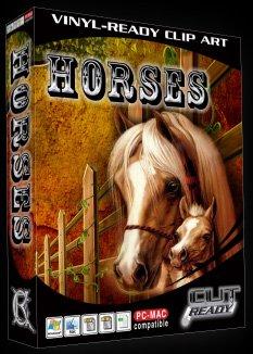 Horse EPS Vector Sign Clipart Horses by Cut Ready Clipart