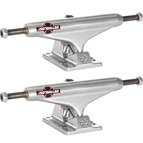 Independent Reynolds GC Hollow Baker Silver Skateboard Trucks - 129mm Hanger 7.6 Axle (Set of 2) by Independent