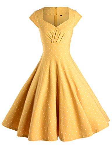 GownTown Womens Dresses Party Dresses 1950s Vintage Dresses Swing Stretchy - 1950 Vintage