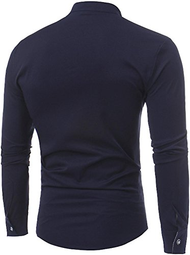 Down Tops Jza123 Sleeve Jza102 Plaid Long Chemises Herren Button Check navy Sportides Shirts Casual qHw1Bg0