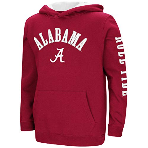 Colosseum NCAA Youth Boys-Crunch Time-Hoody Pullover-Alabama Crimson Tide-Crimson-Youth Medium