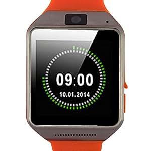 Changeshopping Fashion Bluetooth Wireless Camera Music Smart Watch Wrist For Android Samsung (Orange)