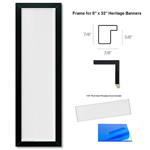 Sports Flags Pennants Company Heritage Banner Frame for 8x32 Inch Banners -