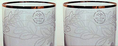 Lenox Heritage Home Decor Etched Champagne Flutes Set of 2 Vine & Gold Rim 10